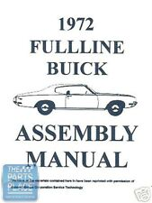 1972 Buick Skylark Assembly Manual