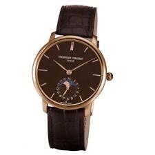 Frederique Constant Mens FC705C4S9 Slim Line 18K Rose Gold Swiss Automatic Watch