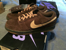 "304292 229 NIKE DUNK LOW PR0 SB ""MOCHAS"" RARE 2007 RELEASED!! SIZE 10"