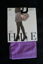 Hue Opaque Tights Sz 1 Dark Orchid Purple Non Control top Nylon Tights DD1012