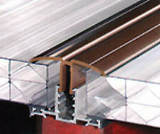 Timber Supported Snap Down Glazing Bar 2.5m **Brown**  10mm -25mm Polycarbonate