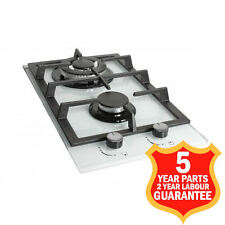 30cm Gas Hob Built-in BOS302WK 2 Burners 1 Triple Ring Burner White