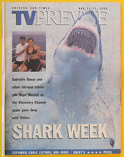 Discovery Channel SHARK WEEK Chicago Sun-Times TV Prevue guide Aug 11 2002