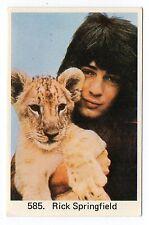 1970s Swedish Pop Star Card #585 US Aussie Jessie's Girl Singer Rick Springfield