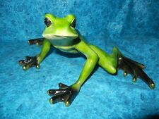 LARGE BEAUTIFUL GARDEN TREE FROG SCULPTURE STATUE - AMAZINGLY PAINTED DECORATION