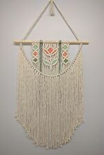 macrame wall hanging, natural cotton cord 5 mm, homedecor,50 cm wide,104 cm long