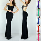 2014 Long Maxi Backless Mermaid Style Gown Evening Prom Party Bridesmaid Dresses