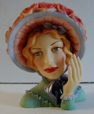 "New Cameo Girls Lady Head Vase Angeline 1847 ""BLUE BONNET BEAUTY"" MIB LV-014"