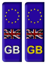 Pair GB Euro Number Plate Vinyl Car Stickers EU European Gc Legal Decal Badge A1