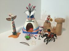 PLAYMOBIL # 5247 NATIVE AMERICAN TEEPEE INDIAN CAMP PLAYSET W/ACCESSORIES