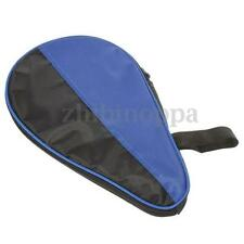black/blue Waterproof Nylon Table Tennis Racket Case for 2 Ping Pong Paddle Bat