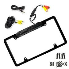 Pyle PLCM19 Low Lux Rear Camera Black Chrome Metal Licence Plate Frame