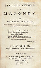 79. Preston - Illustrations of Masonry  New [4th] ed. London  1788.