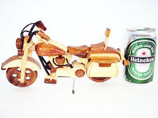 Mini Handmade Wood Art Model Motorcycle HARLEY DAVIDSON -Handmade wooden Gift