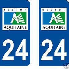 aufkleber nummernschilder auto Abteilung Dordogne 24