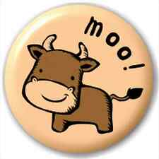 Small 25mm Lapel Pin Button Badge Novelty Cow - Moo!