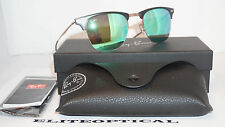 New Authentic RAY BAN LIGHT RAY Tech Titanium Brown/Green Mirror RB8056 176/3R