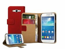 Wallet RED Leather Flip Case Cover Pouch for Samsung Galaxy Grand Neo GT-i9060