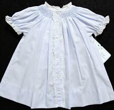 HAND~EMBROIDERED NEWBORN SMOCKED TAKE ME HOME BLUE DAYGOWN  W/FRENCH LACE~NWT'S