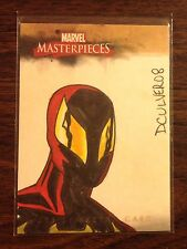 Iron Spiderman Marvel Masterpieces sketch card 1/1 Dennis Culver