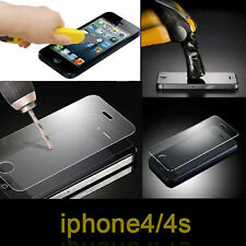 100% Genuine Tempered Glass Film for Apple iPhone 4 4S Screen cover Protector