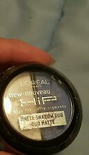 """LOREAL HIP MATTE EYESHADOW DUO #207 """"ANIMATED"""" (BLUE AND WHITE)~ NEW SEALED"""