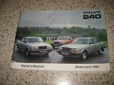 VOLVO série 240 - 242 / 244 / 245 - 1984-véritable propriétaires manuel / manuel