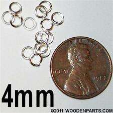 1000x Silver Plated Open JUMP RINGS  4mm   for jewelry & crafts
