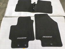 NEW FLOOR MATS OEM HYUNDAI ACCENT 06 07 08 09 10 11 BLACK FRONT REAR MAT SET