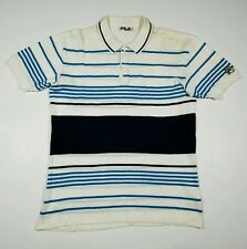 Vintage FILA Men's Size 42 Large Striped Polo Shirt Made In Italy ( L )