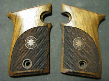 Star Firestar 9mm/.40S&W ONLY Checkered w/Logo French Walnut Pistol Grips NEW!