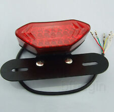 Red 20LED Motorcycle Tail Turn Signal Brake License Plate Integrated Light 12V