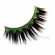Green Wave Pattern Party False Eyelash Kit Long Curly Stylish False Eyelash Kit