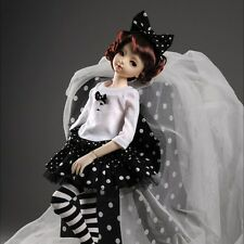 "Dollmore 17"" 1/4BJD doll clothes outfits MSD - Kiyomi Dress Set (Black)"