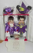MARIE OSMOND DISNEY HALLOWEEN MICKEY AND MINNIE DOLL SET - NRFB - LE 059/300