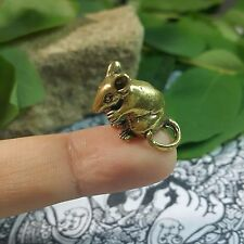 Dollhouse Miniature Figurine Brass Rat Mouse Animal Metalwork Collectible