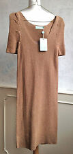 NEW + TAGS - ALMOST FAMOUS Copper Lurex Knit Two Layer Dress Small 8