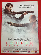 BRUCE WILLIS JOSEPH GORDON LEVITT - LOOPER - Polish promo FLYER