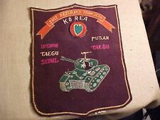 ORIG KOREAN WAR SOUVENIR JUST RETURNED FROM HELL JACKET PATCH - 24TH DIV / TANK
