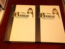 """PAIR OF MATCHING VINTAGE 1956 BIBLES """"THE BIBLE IN STORY AND PICTURES"""", SEE DESC"""