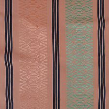 Japanese Vintage Obi Silk Fabric Copper Brown Borders 33x110cm AX157