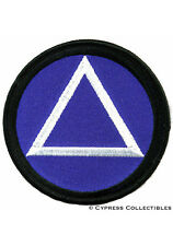 ALCOHOLICS ANONYMOUS iron-on EMBROIDERED PATCH AA sober
