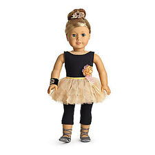 NEW American Girl Isabelle's PERFORMANCE SET 6 Items: Leotard Tutu Tiara Shoes++