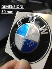 STICKERS  ADESIVO 3D RESINATO  PER AUTO MOTO BMW LOGO CROMATO  SIZE 50 MM  B-50M