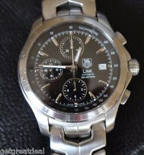 Tag Heuer LINK AUTOMATIC TACHYMETRE CHRONOGRAPH WATCH SWISS BOX/PAPERS