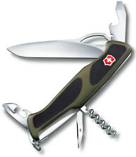 0.9553.MC4 Victorinox RangerGrip 61 Swiss Army Knife 130 mm Black Green 09553MC4