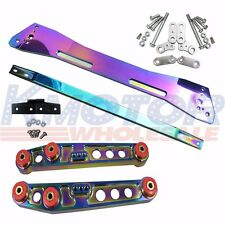 NEO CHROME REAR SUBFRAME BRACE LOWER CONTROL ARM SET SUSPENSION KIT CIVIC ACURA