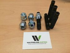 4x M12x1.5 Wheel Stud & Nut Conversion Kit 82mm Overall Length