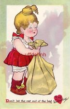 Tuck Nursery Dont's Series DON'T LET THE CAT OUT OF THE BAG To My Valentine 1910