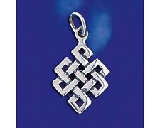 Sterling Silver Celtic Knot Pendant Keltic Artistic Charm Solid 925 Italy New